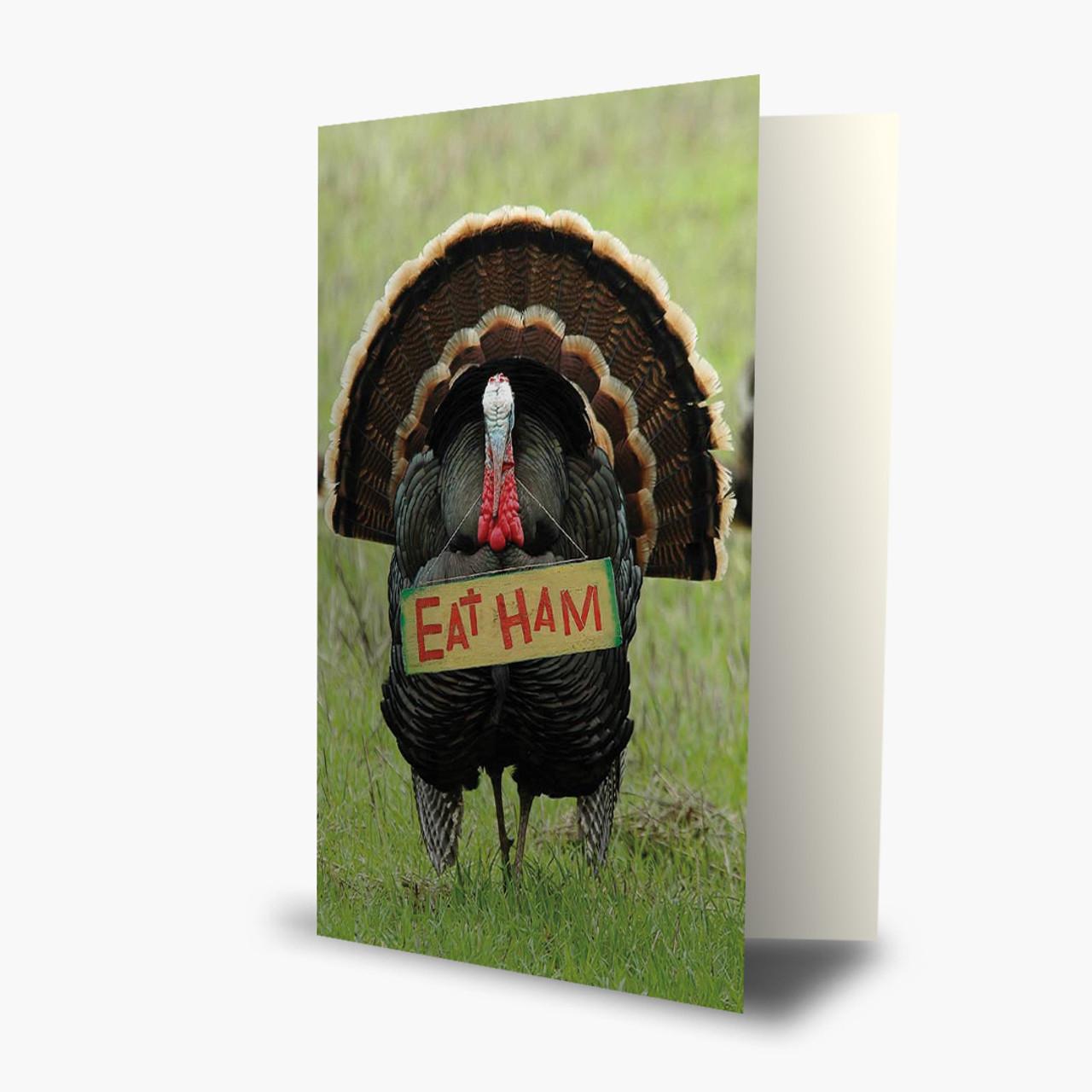 Humorous Turkey Thanksgiving Card