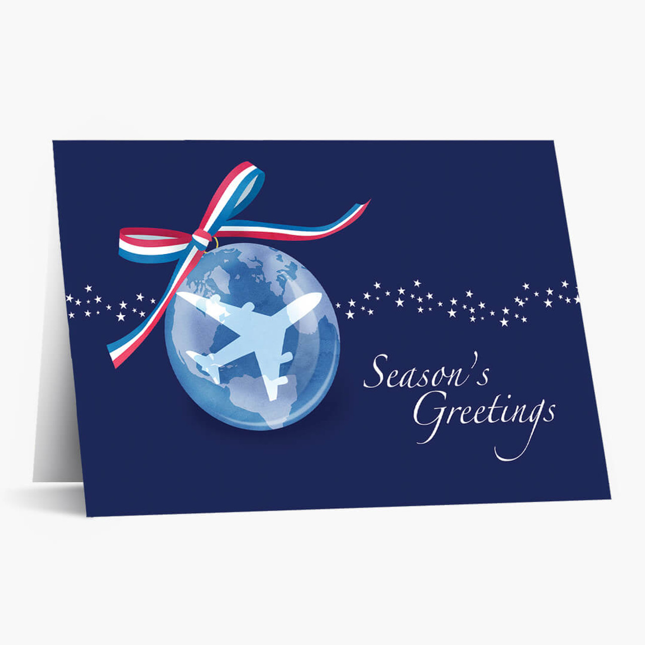 Airplane Ornament Christmas Card