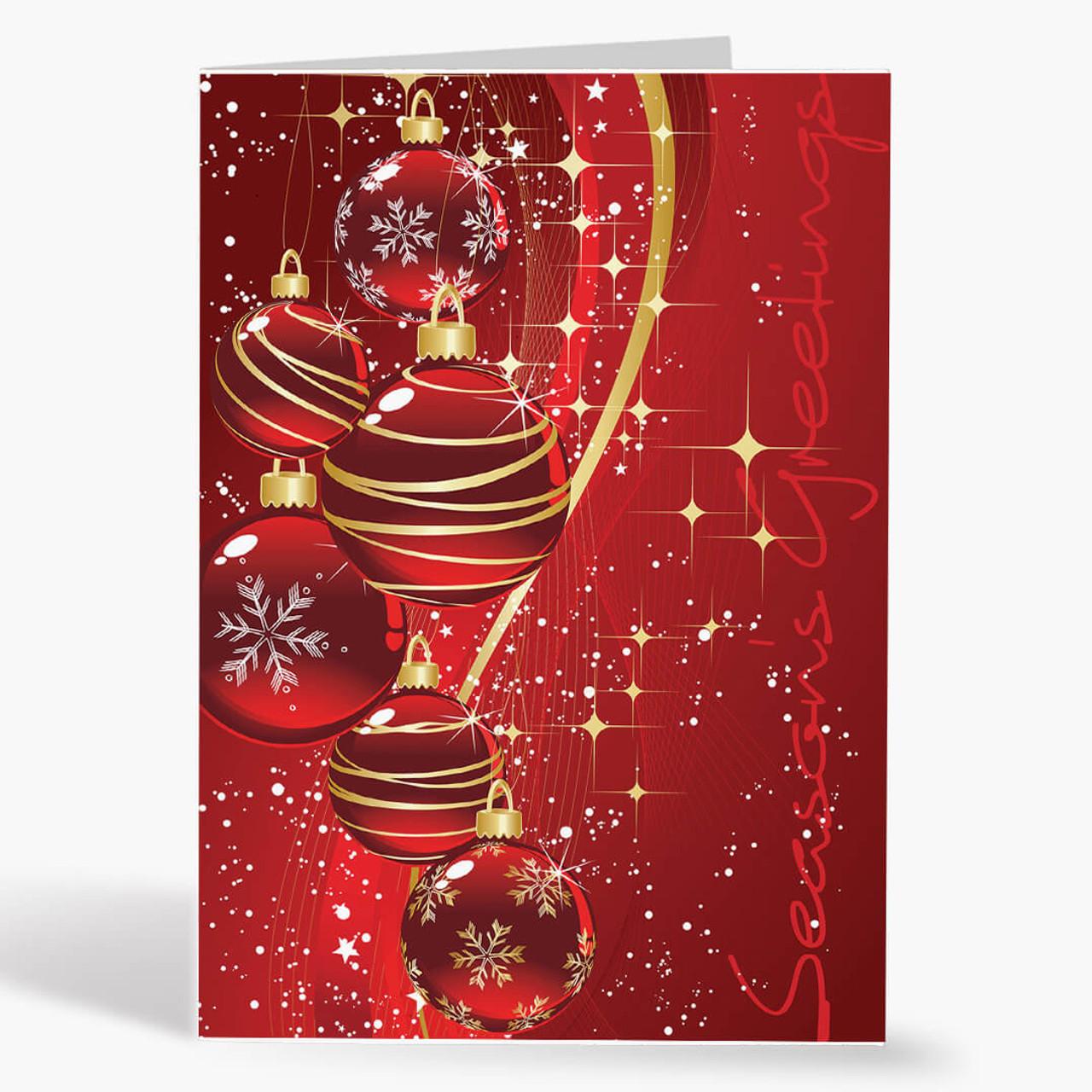 Contemporary Ornaments Christmas Card