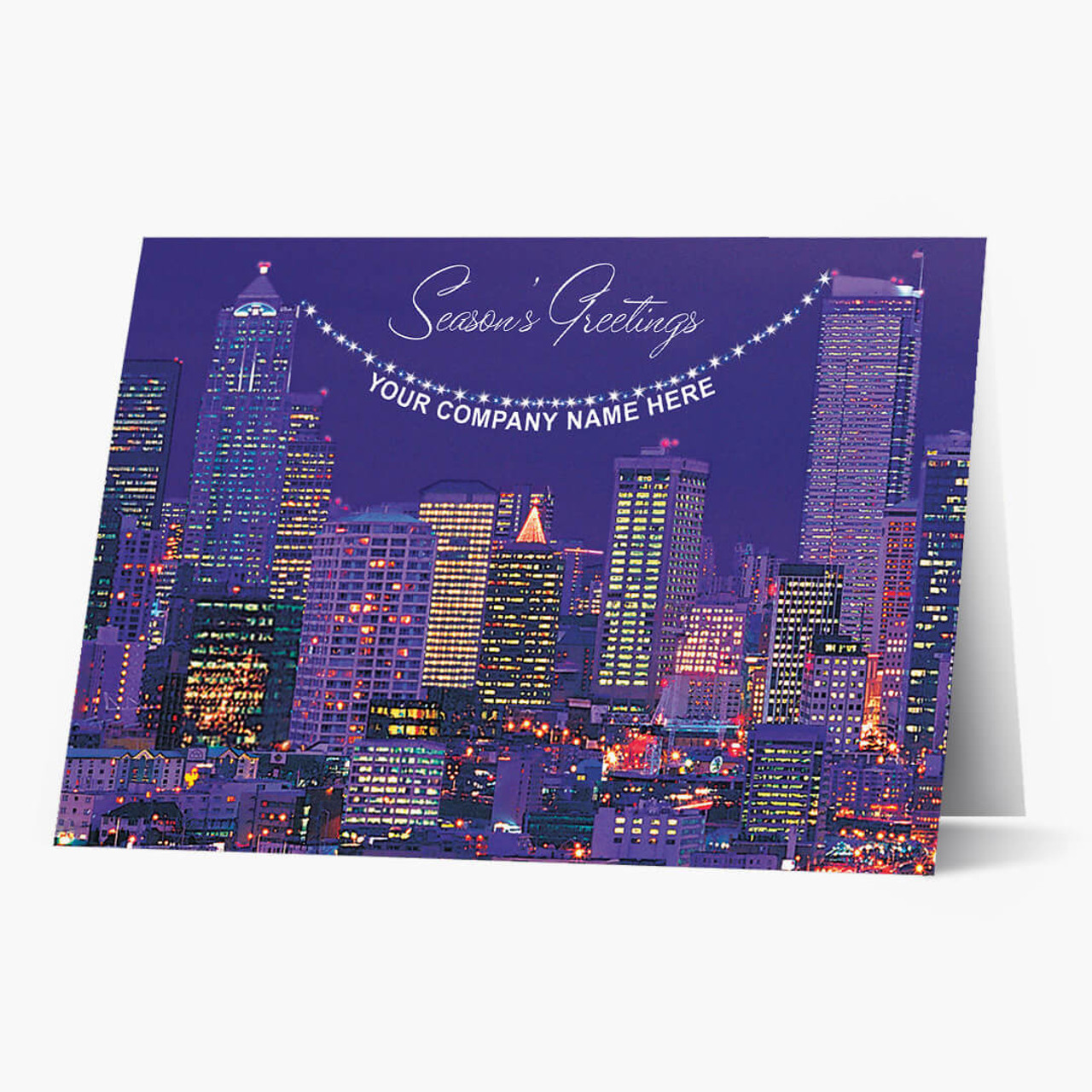 Cityscape Christmas Card