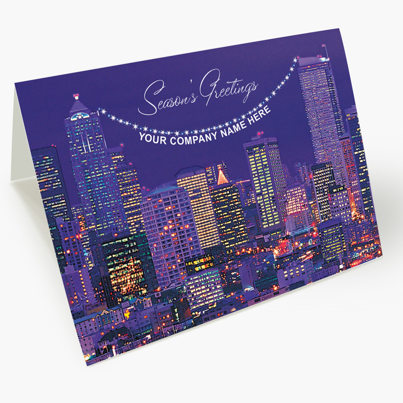 Cityscape Christmas Card