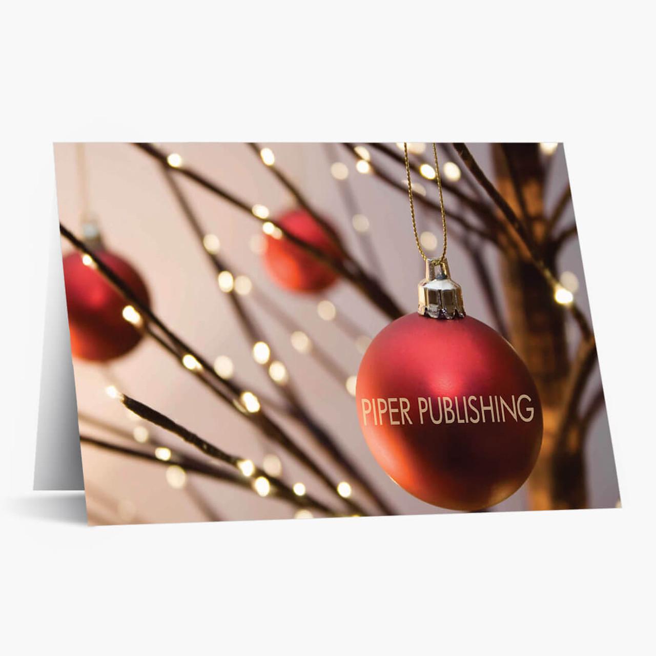 Ornament Company Name Christmas Card