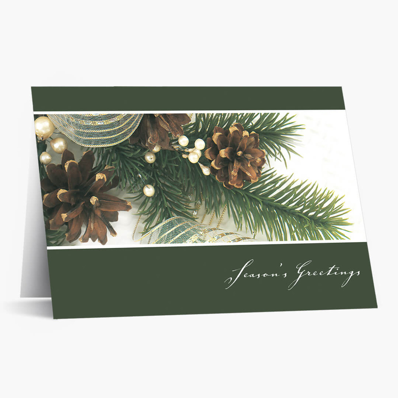 Pine Cone Holiday Christmas Card