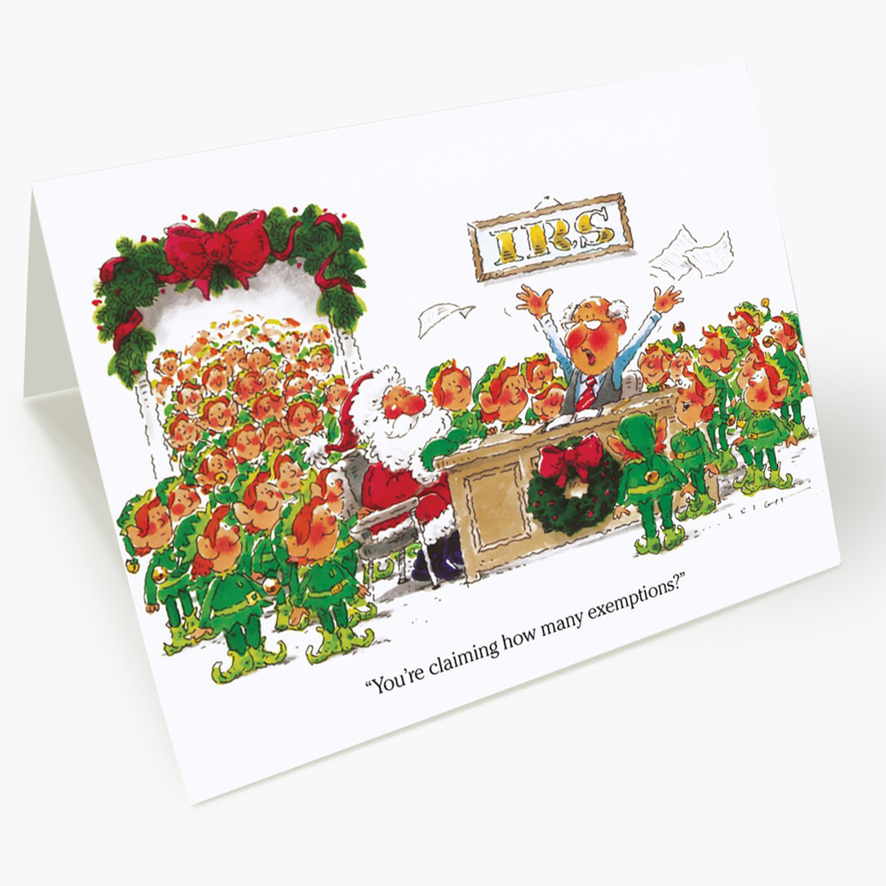 Elves Exempt Christmas Card