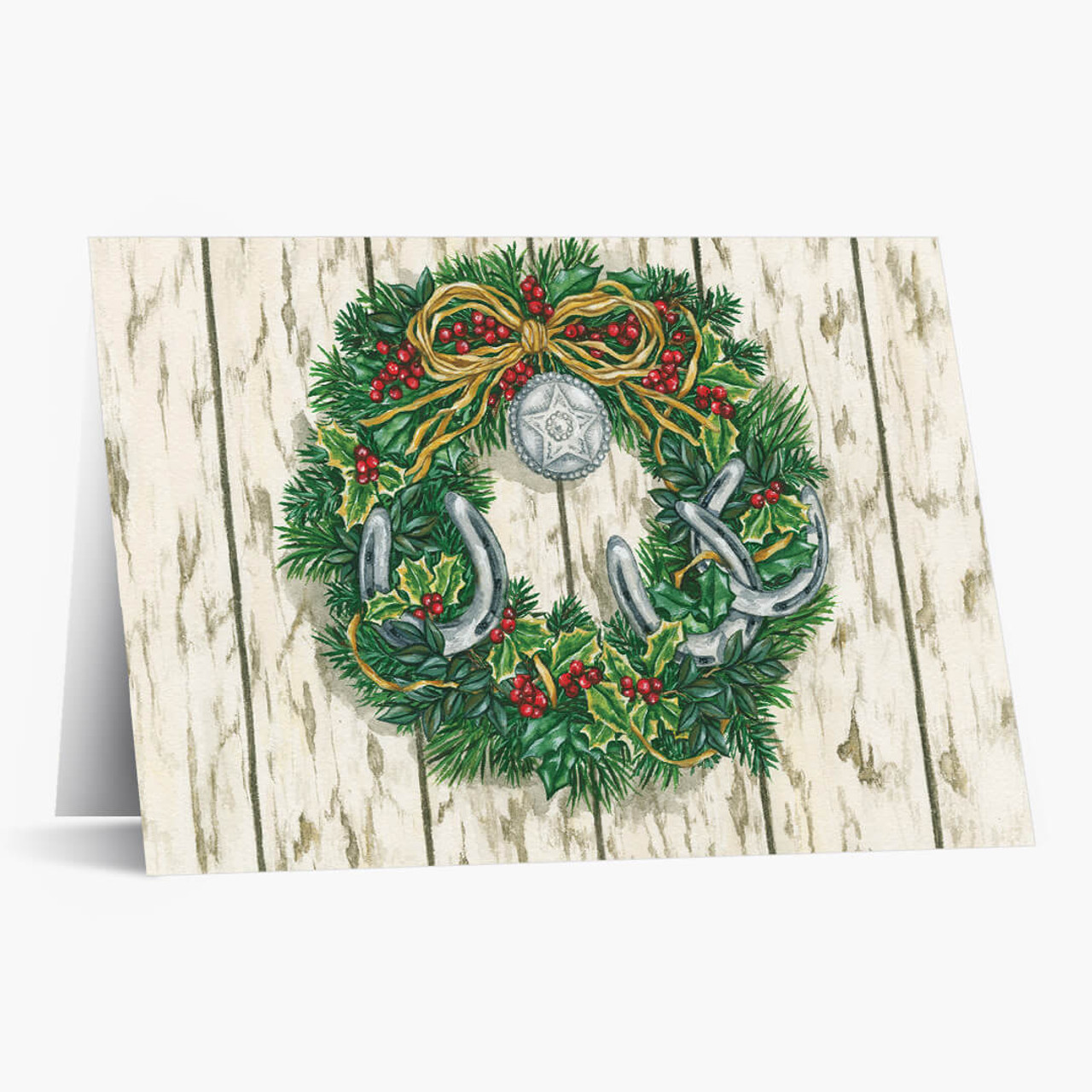 Western Wreath Christmas Card