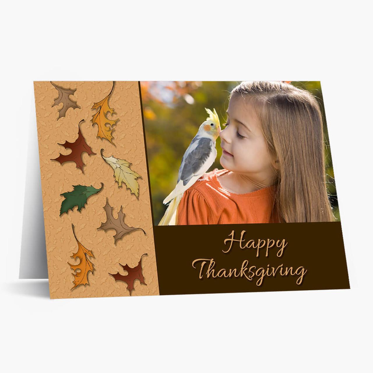 Thanksgiving Photo Card - Matte Finish