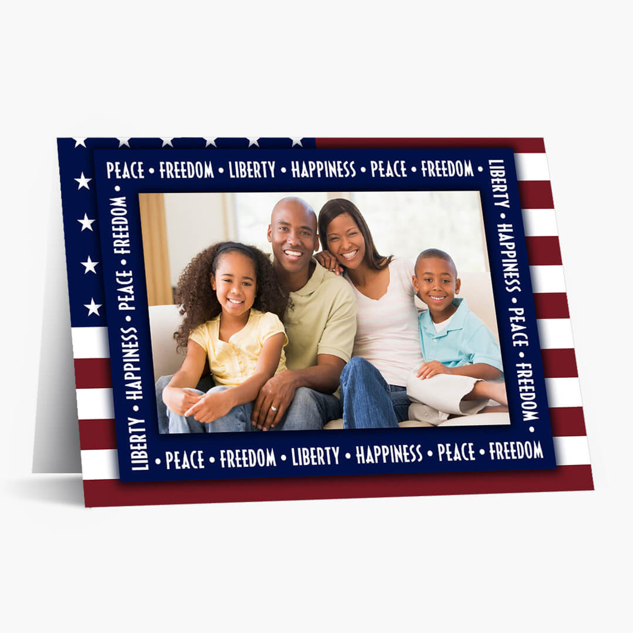 Patriotic Photo Card - Matte Finish