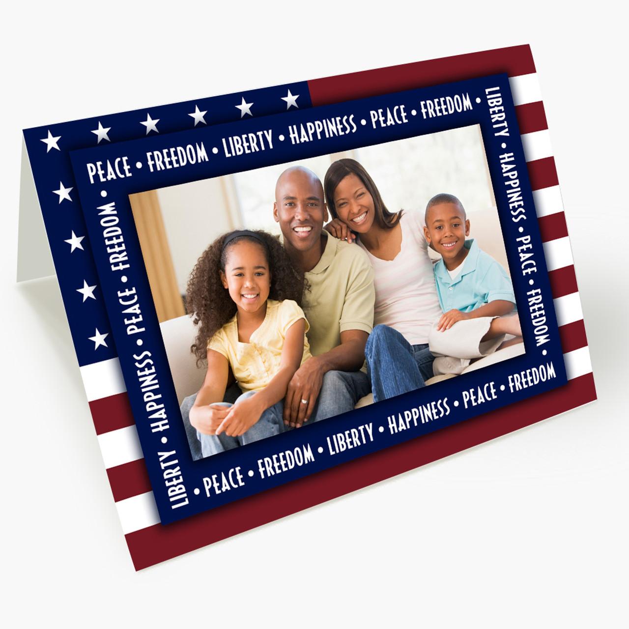 Patriotic Photo Card - Matte Finish