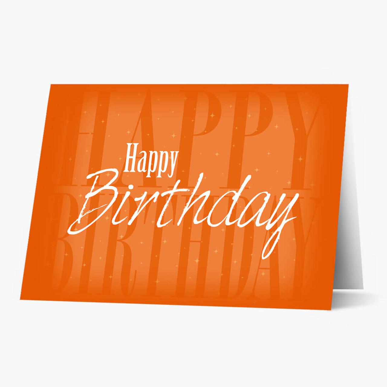 Happy Birthday Shadow Card