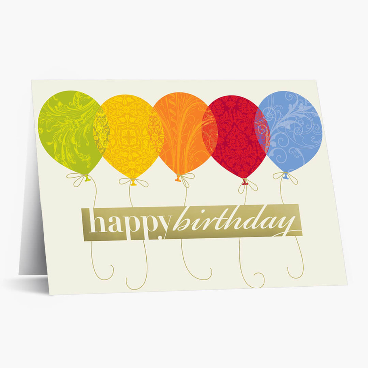 Colorful Balloons Birthday Card