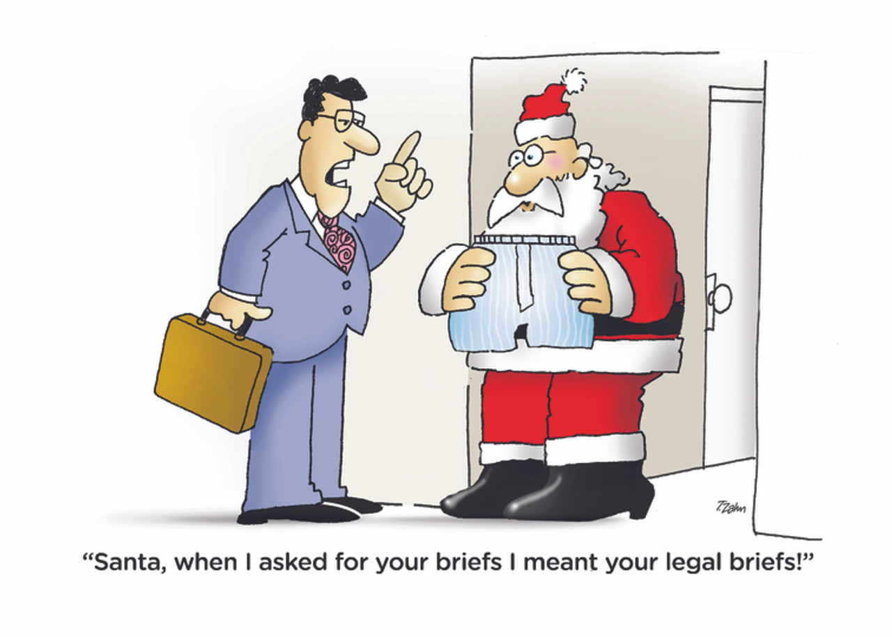 Legal Briefs Lawyer Christmas Card Attorney Christmas Cards