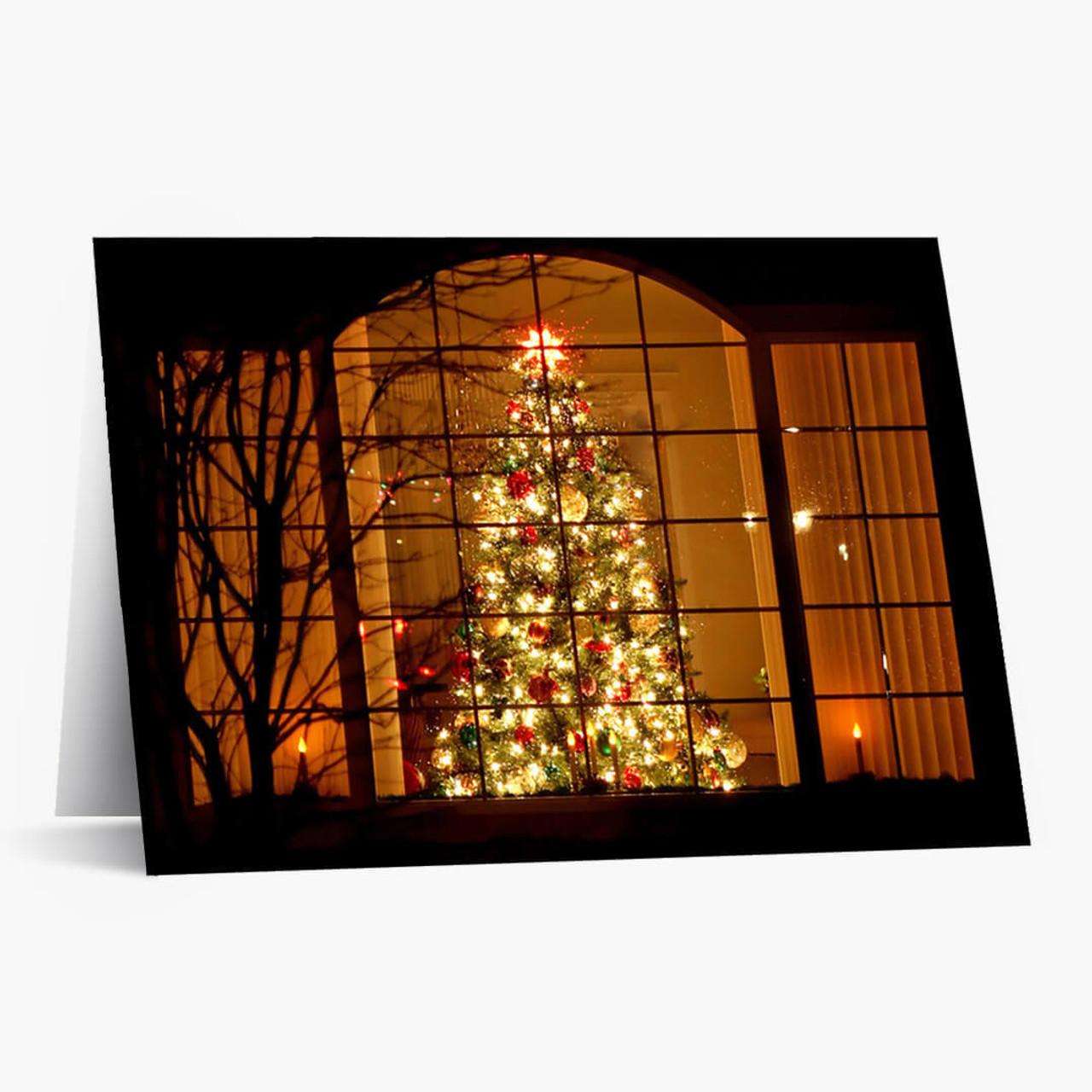 Window Glow Christmas Card