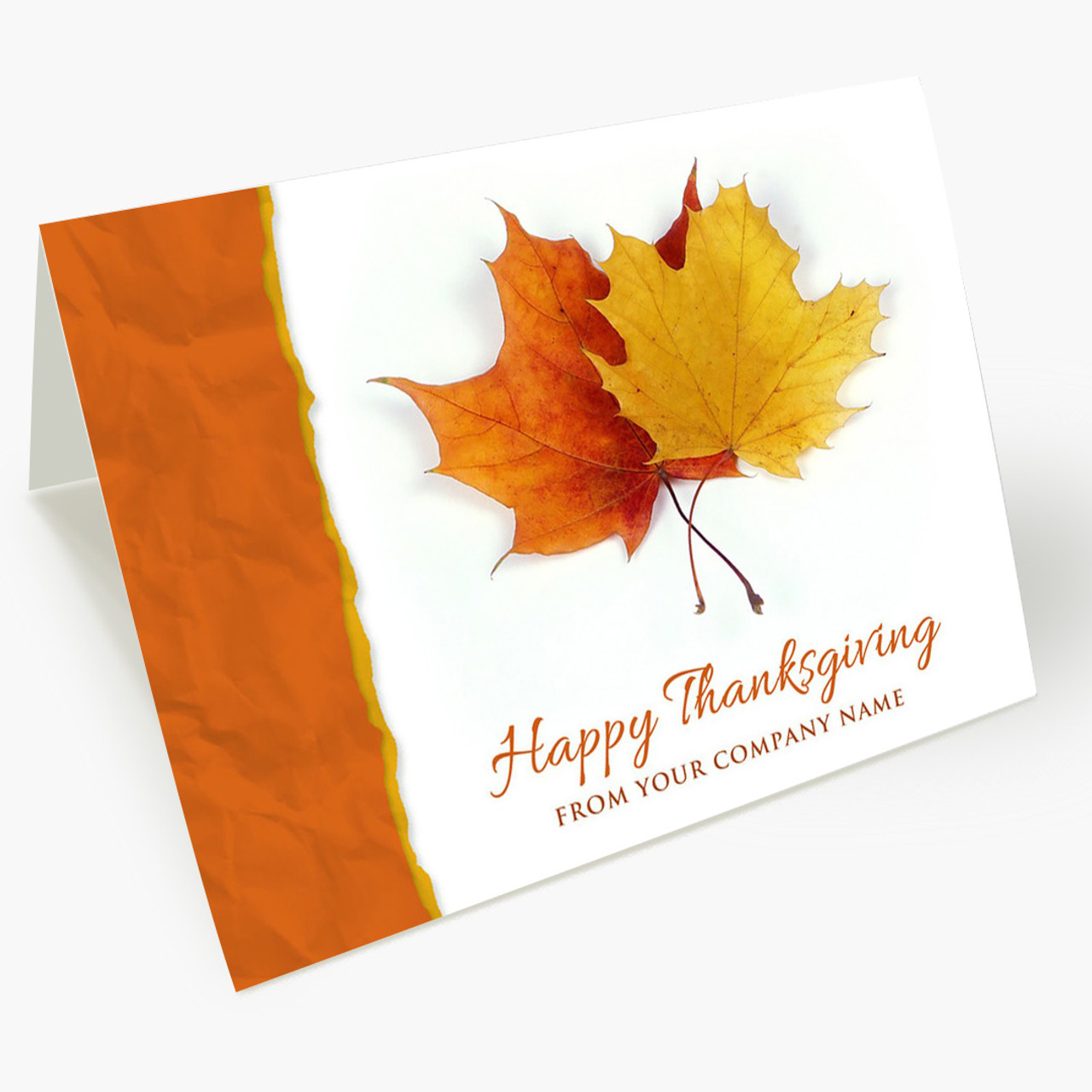 Maple Greetings Thanksgiving Card
