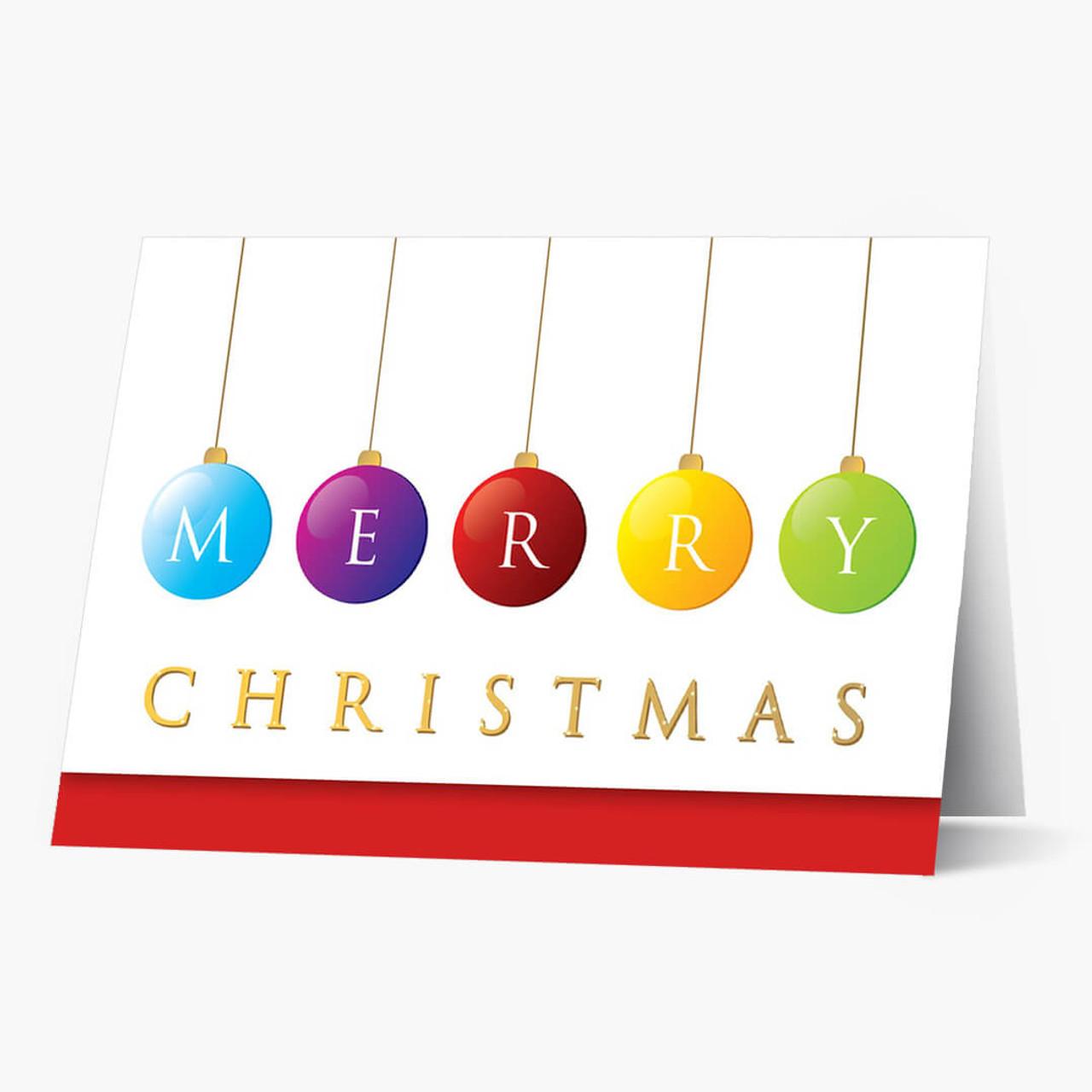 Merry Ornaments Christmas Card