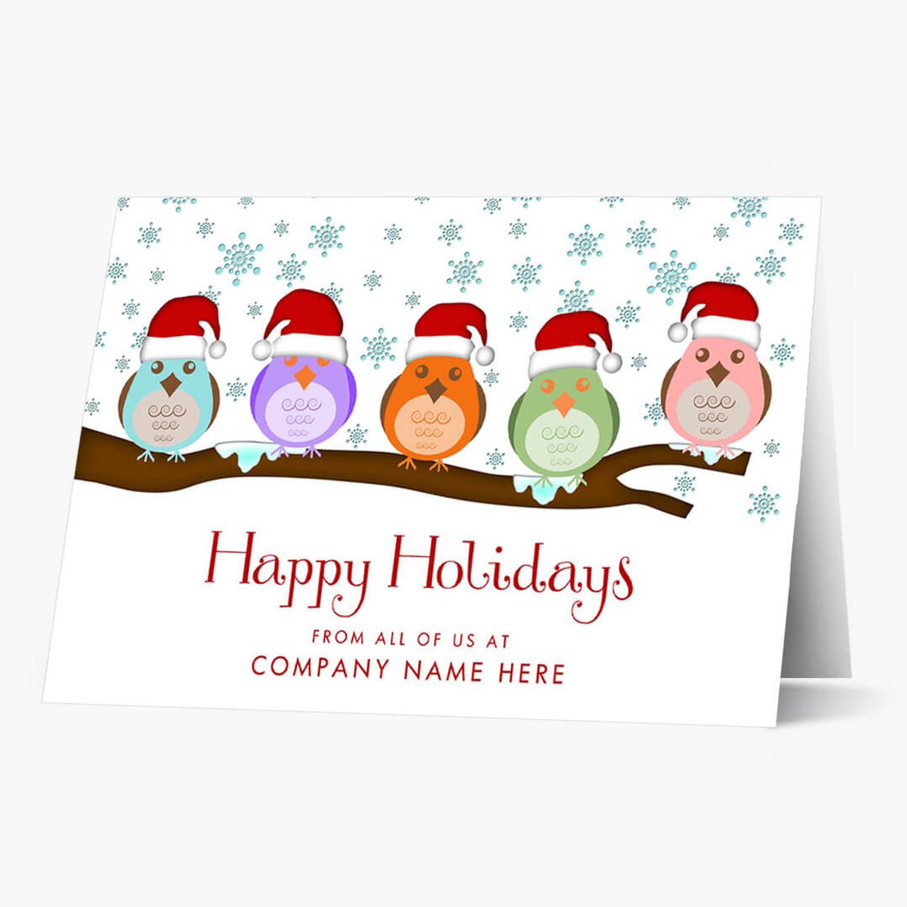 Snow Birds  Christmas Card