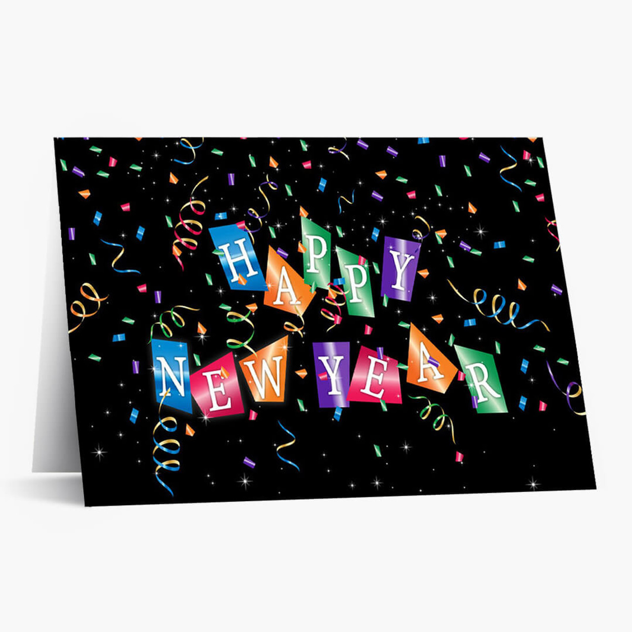 Confetti and Streamers Christmas Card