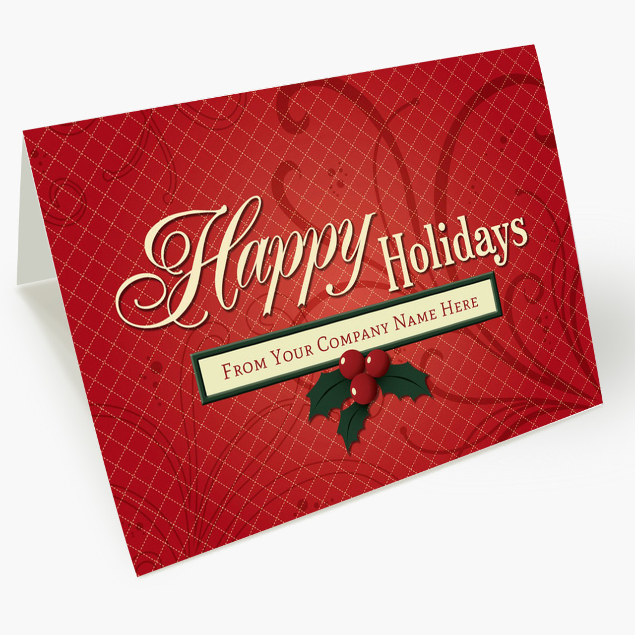 Personalized Greetings Christmas Card