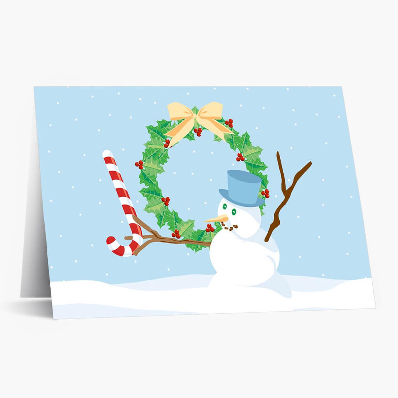 Joyful Snowman Christmas Card