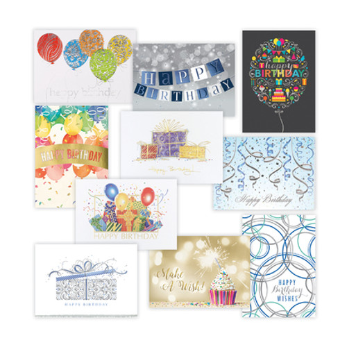Birthday Card Assortment Traditional 2018