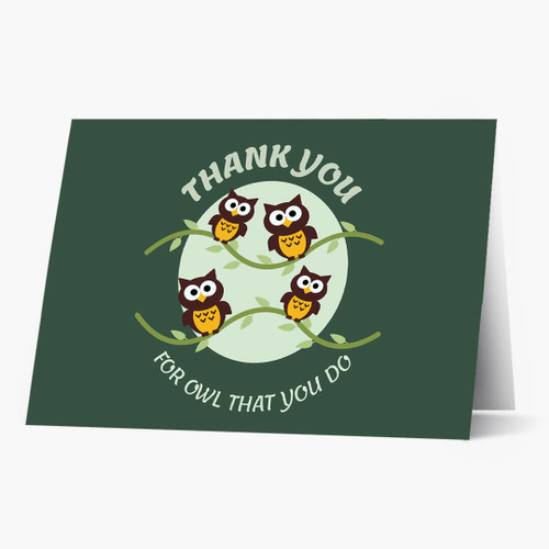 Thank You Owl Card,cards for a cause