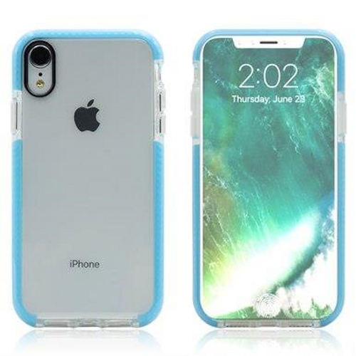 Two-tone Clear TPU Cell Phone Case Dual Color Hybrid Armor Shockproof Cover Soft Case for iPhone 7 Plus/8 Plus, Blue