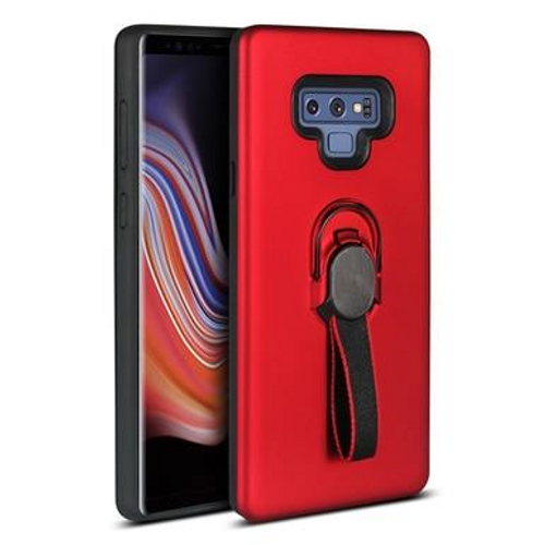 Multifunctional Magnetic Support Ring Holder Mobile phone case for Samsung Galaxy S9 Plus, Red