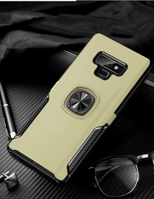 Finger ring magnetic suction case for Galaxy Note 9, Gold