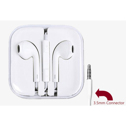 White, 3.5mm Connector High Quality Earphone