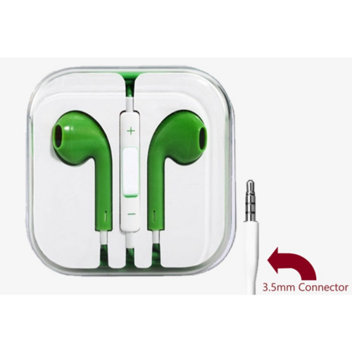 Green, 3.5mm Connector High Quality Earphone