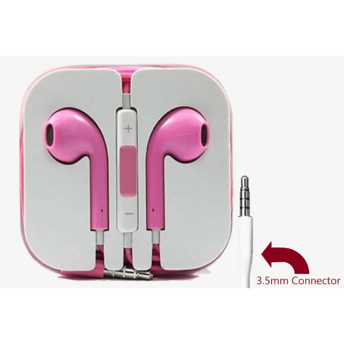 Pink, 3.5mm Connector High Quality Earphone