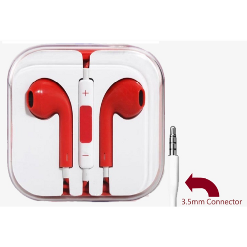 Red, 3.5mm Connector High Quality Earphone