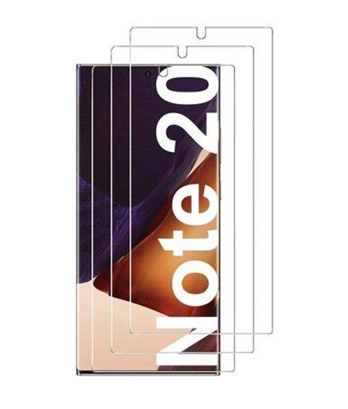 Black, Clear Double layer Tempered Glass for Samsung Note 20 ( Case Friendly )