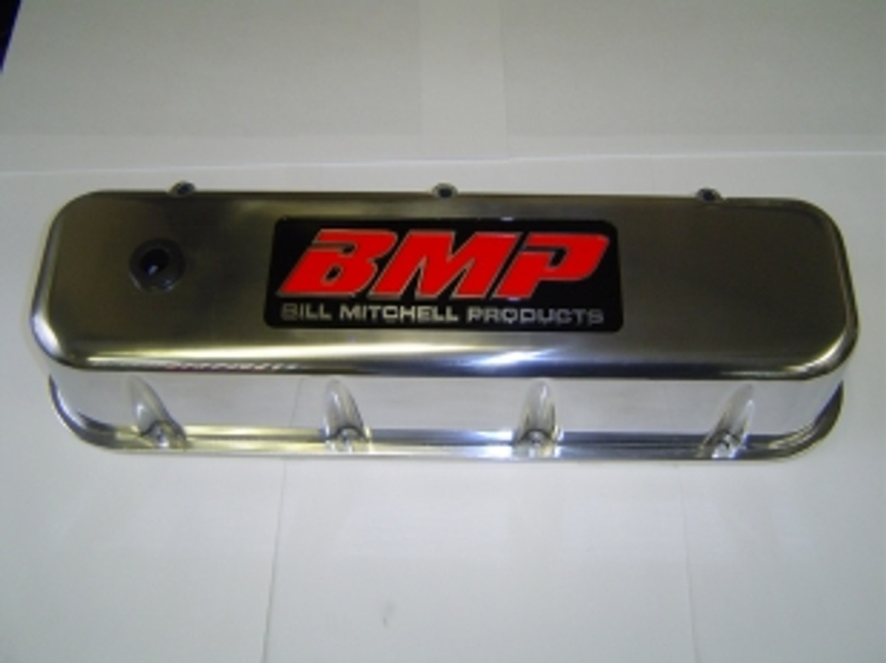 Bill Mitchell Products 70930BMP - Valve Covers Chevy Big Block Diecast  Polished Tall BMP Logo (CLICK HERE/MORE INFO)
