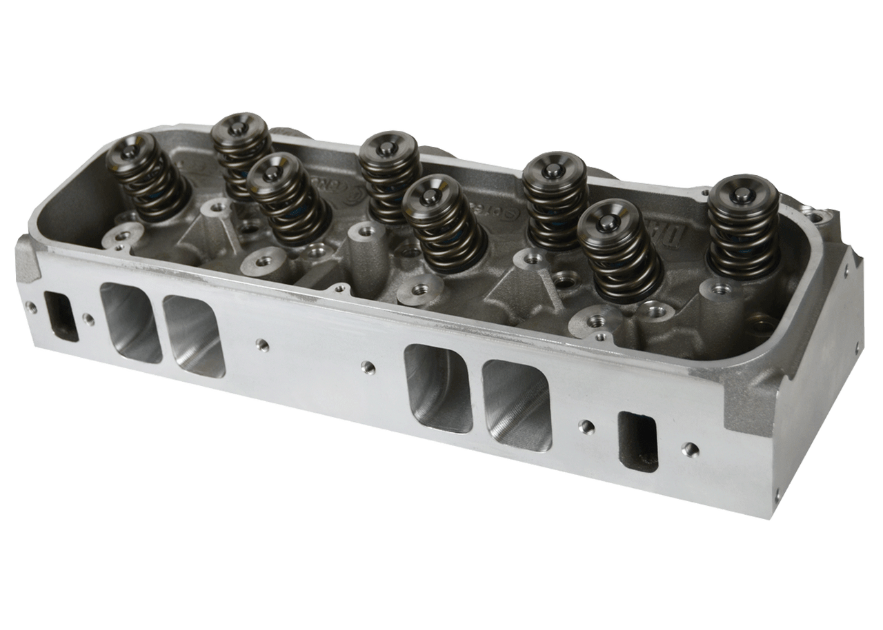 "Dart 19874186 Cylinder Heads Aluminum Big Block Chevy Pro1 365cc 2.350"" x 1.850"", CNC Assembly w/ 1.625"" Dual Springs for Solid Roller Cam"