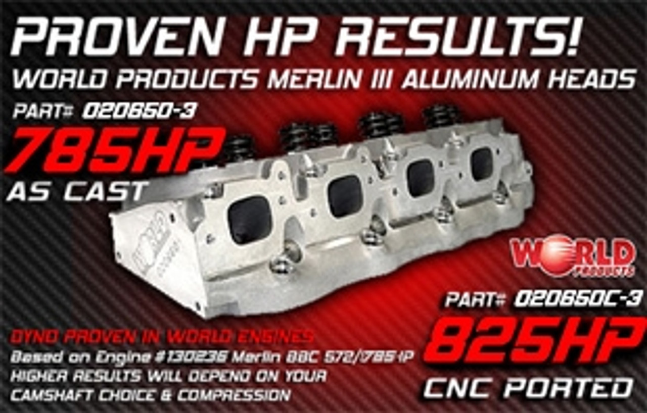 Bill Mitchell Products BMP 020660 - Cylinder Heads Aluminum Chevy Big Block  350cc 119cc 24Degree 2 300