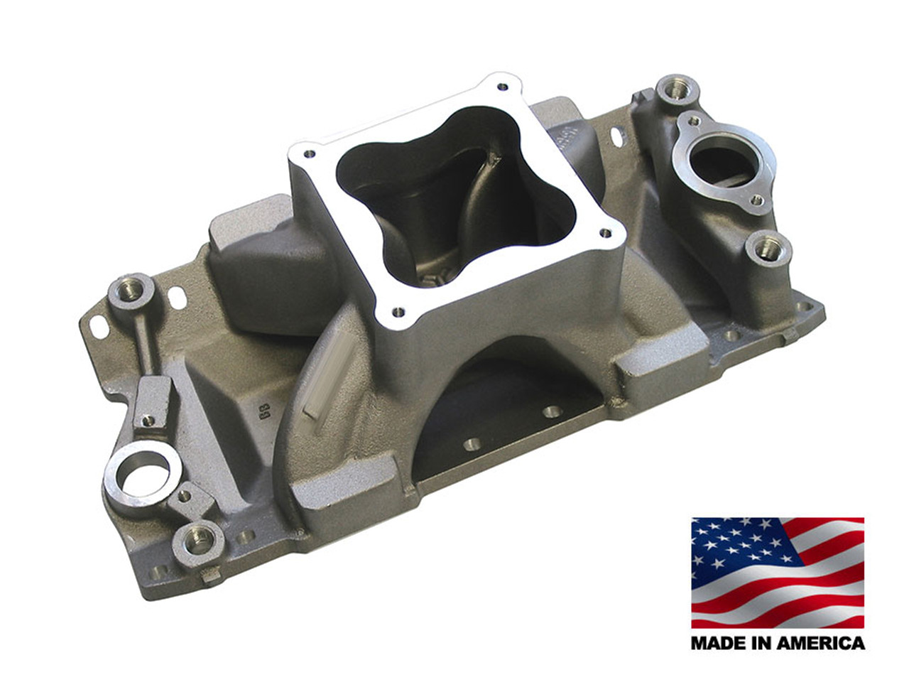 Bill Mitchell Products BMP 061050 - Intake Manifold Chevy Small Block 4500  Carb Flange (CLICK HERE/MORE INFO)