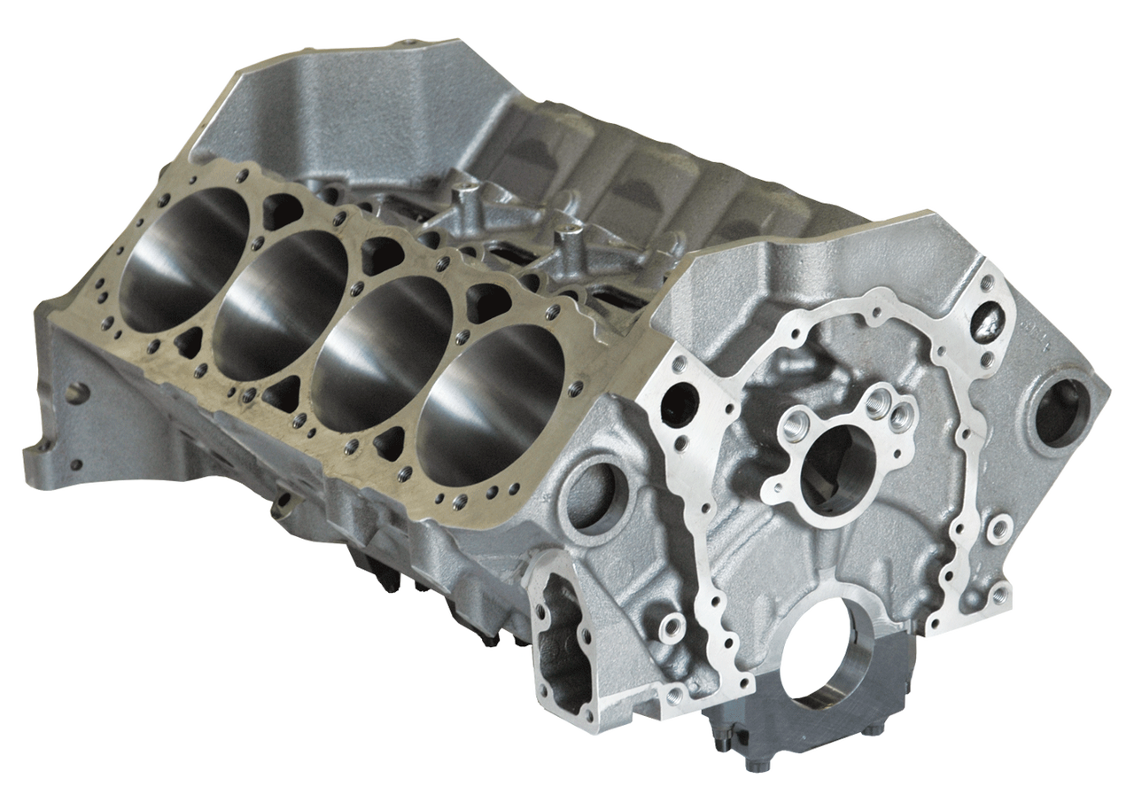 Dart 31161211 Cast Iron SHP High Performance Engine Block Chevy Small Block  350 Mains, 4 125