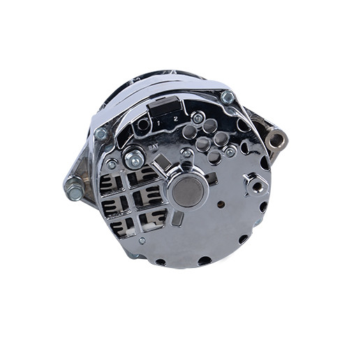 Aopec 100104 GM 1 wire alternator , 100 Amp Chrome 6-rib 1-wire 12si case