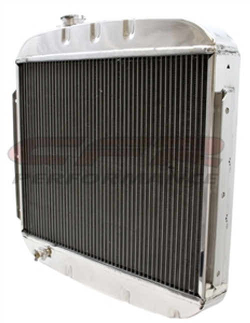 Polished 1955-1957 Chevy V8 Radiator HZ-5557-8-POL