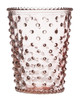 No. 45 Coral Empty Hobnail Glass