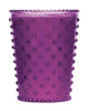 Plum Hobnail Glass Candle - No. 58