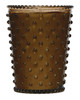 No. 86 Cocoa Almond Glass Hobnail Candle