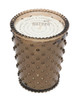 No. 12 Nutmeg Hobnail Glass Candle