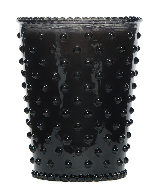 No. 27 Forest Night Hobnail Glass Candle
