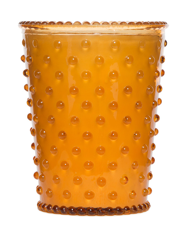 No. 28 Pumpkin & Clove Hobnail Glass Candle
