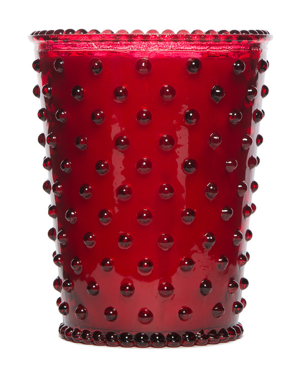 No. 29 Reindeer Hobnail Glass Candle