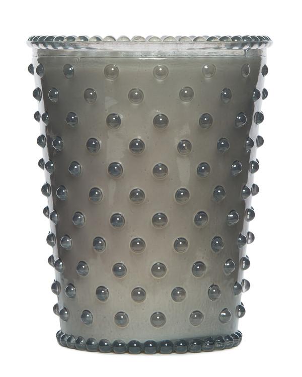 No. 83 Violet Hobnail Glass Candle