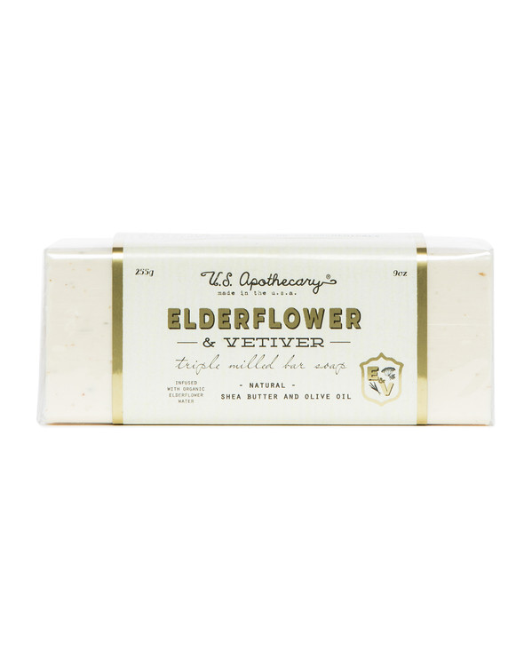 Elderflower & Vetiver Triple Milled Bar Soap