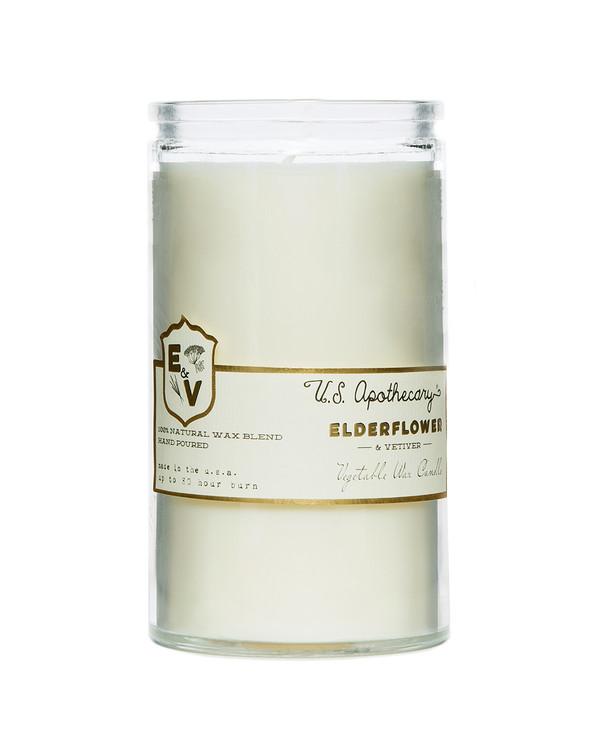 Elderflower & Vetiver Natural Wax Candle