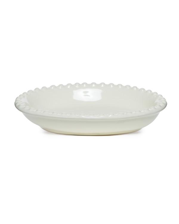 Cream Beaded Soap Dish